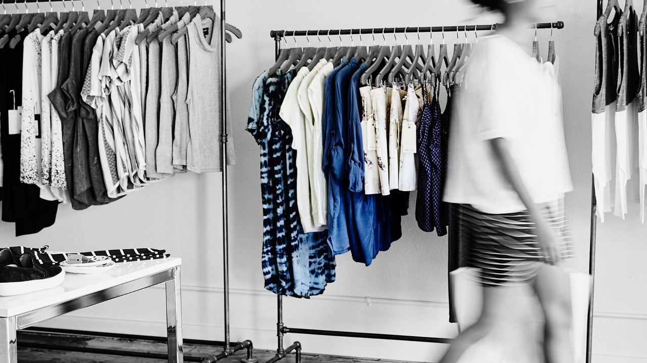 A view of a clothing store; image used for HSBC Australia Low rate credit cards.