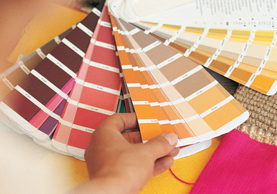 A set of paint-swatches; image used for HSBC Compare Variable Rate Home Loans page.
