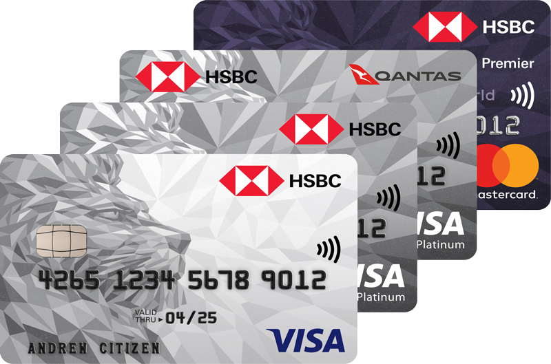 HSBC Visa cards and Mastercard