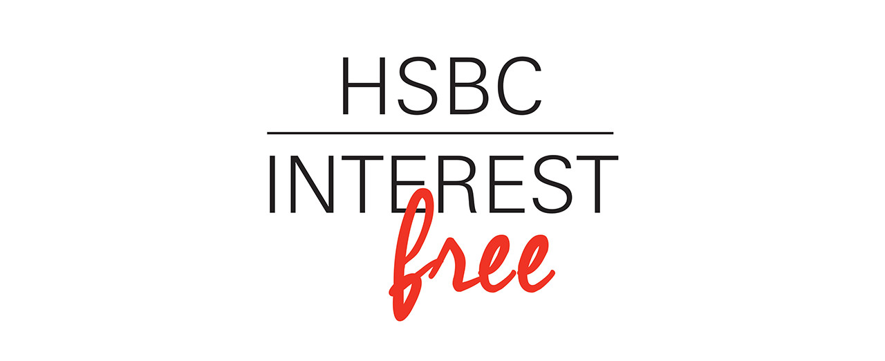 HSBC Interest free logo.