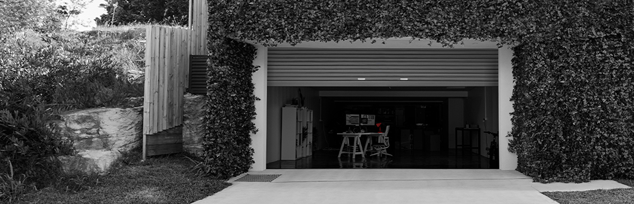 A garage modified to be an office; image used for HSBC Australia Premier 2 Year Fixed Rate Home Loan.