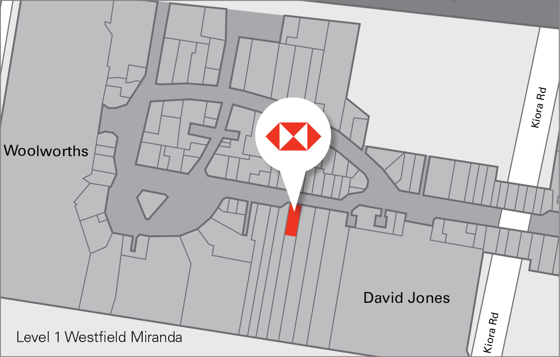 Map of the Camberwell Arcade, showing the location of the new HSBC branch